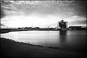 Sarasota. Florida USA., Friday,  01/10/2021,  General View, Sunrise, Finish Tower, Grandstand, 2017 FISA World Rowing Championships, Nathan Benderson Park,<br /> [Mandatory Credit. Peter SPURRIER/Intersport Images].<br /> <br /> 13:25:18