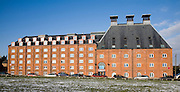 Offices in converted industrial building, Felaw Maltings, Ipswich, Suffolk, England