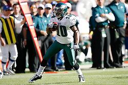 12 Oct 2008: Philadelphia Eagles wide receiver DeSean Jackson #10 runs the ball during the game against the San Francisco 49ers on October 12th, 2008. The Eagles won 40-26 at Candlestick Park in San Francisco, California. (Photo by Brian Garfinkel) (Photo by Brian Garfinkel)