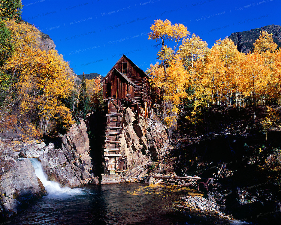 The Lost Horse Mill also called the Dead Horse Mill found close to the ghost town of Crystal Colorado.