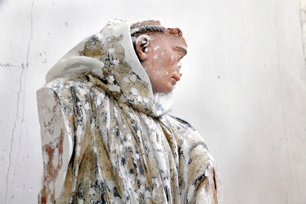 damaged religious sculpture