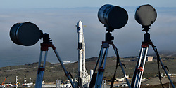 10-7-18. Vandenberg AFB. CA.  SpaceX F-9 gets final preparing for the launch of a Falcon 9 rocket Sunday. The launch will happen at at 7:22 p.m. PDT (10:22 p.m. EDT; 0221 GMT Monday) with SAOCOM 1A, a radar observation satellite for Argentina. The mission will include the first landing attempt by a SpaceX booster at America's West Coast spaceport along with couple of sonic booms will be heard doing reentry.    . Photo by Gene Blevins/LA DailyNews/ZUMAPRESS (Credit Image: © Gene Blevins/ZUMA Wire)