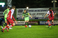 Forest Green Rovers Liam Noble(15) passes the ball during the Vanarama National League match between Forest Green Rovers and Solihull Moors at the New Lawn, Forest Green, United Kingdom on 21 March 2017. Photo by Shane Healey.