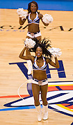 June 2, 2012; Oklahoma City, OK, USA; Oklahoma City Thunder cheerleaders perform during a time out at a playoff game against the San Antonio Spurs at Chesapeake Energy Arena.  Thunder defeated the Spurs 109-103 Mandatory Credit: Beth Hall-US PRESSWIRE