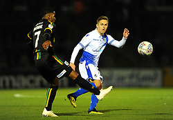 Rhys Browne of Yeovil Town competes with Sam Matthews of Bristol Rovers- Mandatory by-line: Nizaam Jones/JMP - 09/10/2018 - FOOTBALL - Memorial Stadium - <br /> Bristol, England - Bristol Rovers v Yeovil Town - Checkatrade Trophy