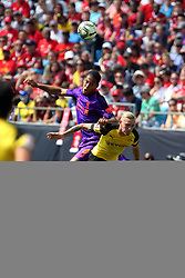 July 22, 2018 - Charlotte, NC, U.S. - CHARLOTTE, NC - JULY 22:Virgil van Dijk (4) of Liverpool out jumps Marius Wolf (27) of Borussia Dortmund to head the ball during the International Champions Cup soccer match between Liverpool FC and Borussia Dortmund in Charlotte, N.C. on July 22, 2018. (Photo by John Byrum/Icon Sportswire) (Credit Image: © John Byrum/Icon SMI via ZUMA Press)