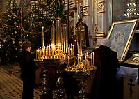 07.01.2011  Bialystok  Nabozenstwo w Cerkwi Swietego Mikolaja pierwszego dnia Swiat Bozego Narodzenia  fot Michal Kosc / AGENCJA WSCHOD
