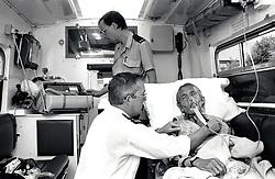 West Bridgford ambulance crew, Nottingham, UK 1990