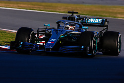February 18, 2019 - Montmelo, BARCELONA, Spain - Lewis Hamilton of Great Britain with 44 Mercedes AMG Petronas Motorsport W10 in action during the Formula 1 2019 Pre-Season Tests at Circuit de Barcelona - Catalunya in Montmelo, Spain on February 18. (Credit Image: © AFP7 via ZUMA Wire)