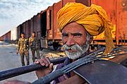 Portrait of a railway worker, Jaisalmer, Rajasthan