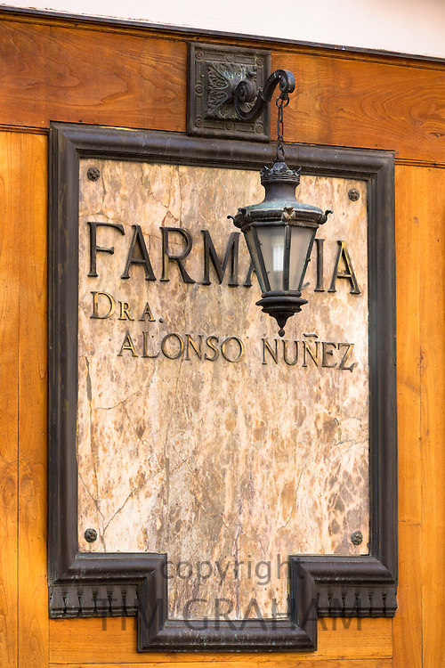 Farmacia Dr A Alonso Nunez in Calle Ancha street in Leon, Castilla y Leon, Spain
