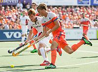 AMSTELVEEN -  Jorrit Croon (Ned)   tijdens de finale Belgie-Nederland (2-4) bij de Rabo EuroHockey Championships 2017.   COPYRIGHT KOEN SUYK