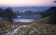 Dusk at the National Trust site, Dyrham Park, in South Gloucestershire