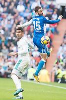 Real Madrid Carlos Henrique Casemiro and R.C. Deportivo Adrian Lopez during La Liga match between Real Madrid and R. C. Deportivo at Santiago Bernabeu Stadium in Madrid, Spain. January 18, 2018. (ALTERPHOTOS/Borja B.Hojas)