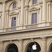 FLORENCE, ITALY - NOVEMBER 02:  An exterior of The Apple Store in Piazza della Repubblica, Florence, Italy. 2nd November 2017. Photo by Tim Clayton/Corbis via Getty Images)
