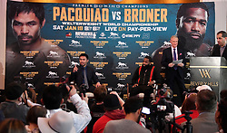 Nov 11-20-18. Los Angeles, CA. Senator Manny ''Pacman'' Pacquiao, boxing's only eight-division world champion, will end his two-year hiatus from a U.S. boxing ring when he returns to Las Vegas to defend his World Boxing Association welterweight world title against former four-division world champion and must-see attraction Adrien ''The Problem''.Photo by Gene Blevins/ZumaPress. (Credit Image: © Gene Blevins/ZUMA Wire)