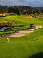 GLENEAGLES SCHOTLAND - Hole 9 van PGA Centenary Course  van Gleneagles. Er zijn drie bannen van Gleneagles. De Queen's Corse, King's  Corse en de belangrijkste is de PGA Centenary Course. Op de PGA course wordt in 2014 de Ryder Cup gespeeld. Het Gleneagles Hotel heeft 5 sterren en het restaurant van Andrew Fairlie met 2 Michelin sterren. FOTO KOEN SUYK