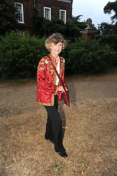 LINDY, MARCHIONESS OF DUFFERIN & AVA leaving a summer party hosted by Lady Annabel Goldsmith at her home Ormeley Lodge, Ham Gate, Richmond on 13th July 2010.