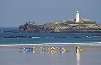 Surf School at Godrevy, Cornwall