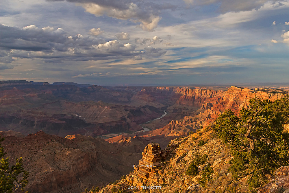 The Colorado River from Desert View, South Rim of Grand Canyon