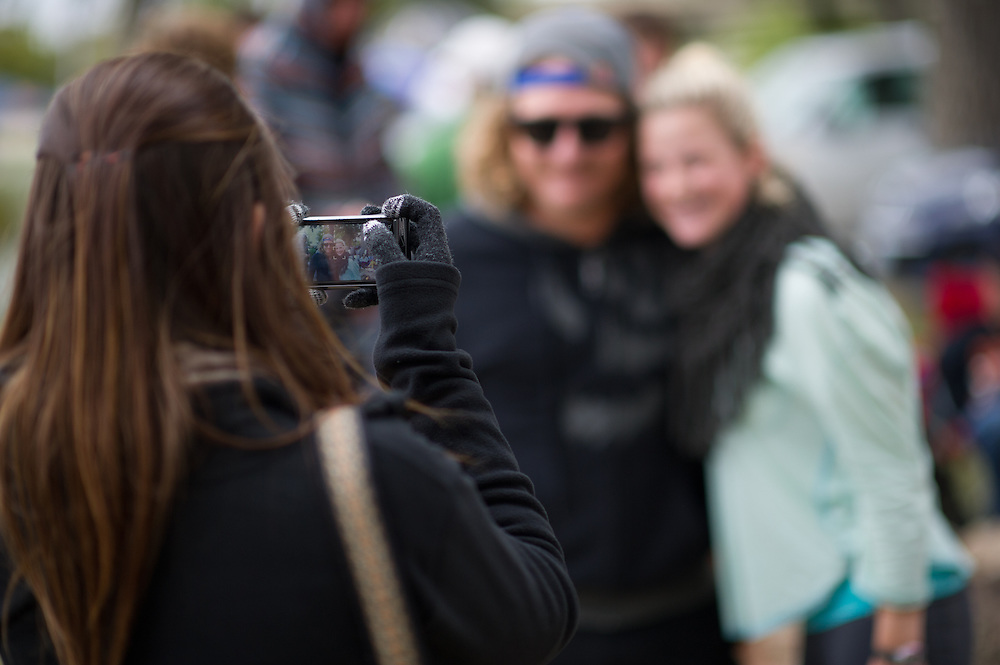 Participant poses for a portrait with Parks Bonifay at Red Bull Boarder Wars in Fort Worth, Texas on October 6th, 2012