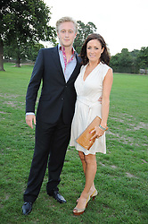 NATALIE PINKHAM and OWAIN WALBYOFF at the 4th Jaeger-LeCoultre Polo Cup in aid of the James Wentworth-Stanly Memorial Fund held at Coworth Park, Ascot, Berkshire on 10th September 2010.