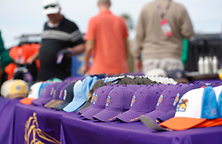 November 3, 2017 - San Diego, CA, USA - Baseball hats were selling of $40 at the Breeders' Cup at the Del Mar Thoroughbred Club on Friday, Nov. 3, 2017.  (Photo by K.C. Alfred/The San Diego Union-Tribune (Credit Image: © K.C. Alfred/San Diego Union-Tribune via ZUMA Wire)