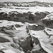 Passing over the TransAntarctic Mountains on flight to the South Pole.