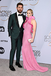 John Krasinski and Emily Blunt attend the 25th Annual Screen Actors Guild Awards at The Shrine Auditorium on January 27, 2019 in Los Angeles, CA, USA. Photo by Lionel Hahn/ABACAPRESS.COM