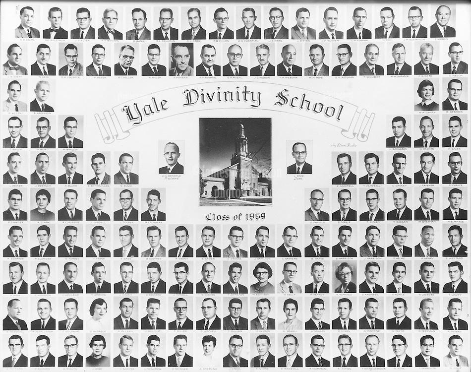1959 Yale Divinity School Senior Portrait Class Group Photograph