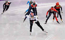 February 17, 2018 - Gangneung, South Korea - Short Track skater Minjeong Kor of Korea leads the pack during the Ladies Short Track Speed Skating 1500M finals at the PyeongChang 2018 Winter Olympic Games at Gangneung Ice Arena on Saturday February 17, 2018. Minjeong Kor of Korea won the gold medal. (Credit Image: © Paul Kitagaki Jr. via ZUMA Wire)