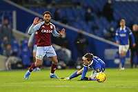 Football - 2020 / 2021 Premier League - Brighton and Hove Albion vs. Aston Villa - Amex Stadium<br /> <br /> Douglas Luiz of Aston Villa fouls Leandro Trossard of Brighton during the Premier League match at The Amex Stadium Brighton <br /> <br /> COLORSPORT/SHAUN BOGGUST