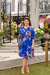 © Licensed to London News Pictures. 19/05/2014. London, England. TV presenter Kirsty Allsop.  Press Day at the RHS Chelsea Flower Show. On Tuesday, 20 May 2014 the flower show will open its doors to the public.  Photo credit: Bettina Strenske/LNP