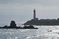 Pigeon Point Lighthouse on the San Mateo Coast of California