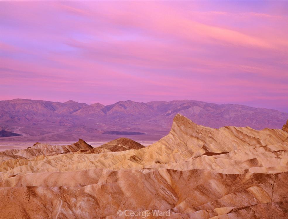 Predawn Color above Golden Canyon, Death Valley National Park, California