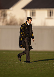 Dumbarton's player-manager Ian Murray at the end..Dumbarton 0 v 2 Falkirk, 23/2/2013..©Michael Schofield.