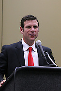 15 January 2009: 2009 National Soccer Hall of Fame player electee Jeff Agoos. The election announcement press conference was held at the Convention Center in St. Louis, Missouri in conjuction with the National Soccer Coaches Association of America's annual convention.