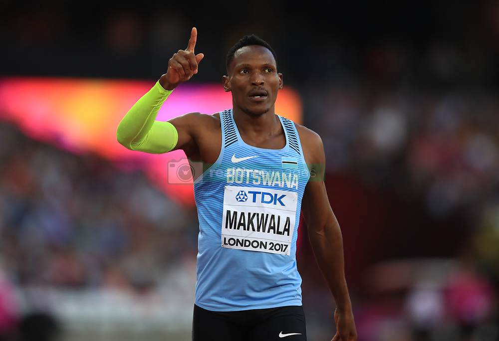 File photo dated 06-08-2017 of Botswana's Isaac Makwala.