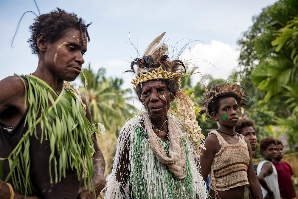 People in the village of Yar, East Sepik Province, Papua New Guinea.<br /> <br /> (June 21, 2019)