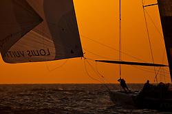 Artemis Racing (SWE) beats Emirates Team New Zealand (NZL), RR1. Dubai, United Arab Emirates, November 16th 2010. Louis Vuitton Trophy  Dubai (12 - 27 November 2010) © Sander van der Borch / Artemis Racing