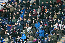 South stand during the second half. <br /> Falkirk 5 v 0 Alloa Athletic, Scottish Championship game played at The Falkirk Stadium. © Ross Schofield