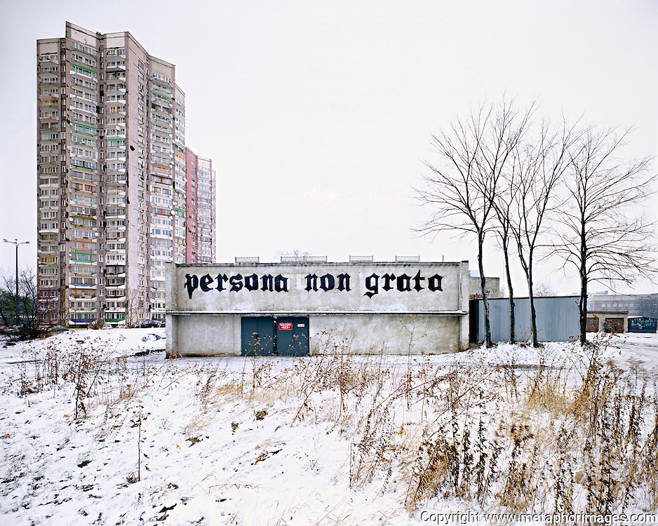 Persona Non Grata, Poland, 2004. <br /> The industrial region of Silesia is a landscape under transformation. Many old industrial sites are now large shopping centres. Some more novel interventions include the conversion of tailings dumps into ski resorts. <br /> <br /> <br /> Wastelands is a journey into abandoned and transient spaces in Australia and Europe. Over a number of years I've travelled with a large format camera to record some of the unusual ways that buildings decline, and the more unusual ways that space is reordered. <br /> <br /> A common practice is to transform abandoned industrial sites into modern centres of consumption. Old industrial centres often find new life as shopping centres. But family fun parks in abandoned nuclear power stations and the prospect of a European wilderness in Chernobyl reveal that landscape is never a finished project, nor what we always expect.<br /> <br /> Large format photography has had a long association with architecture and landscape. It expands detail and corrects perspective, often recording more than we can actually see, compelling us to look longer.