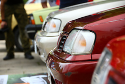 June 24, 2017 - Otwock, Poland - Oldtimer show takes place at Otwock. Typical old Polish cars Fiat, Nysa and Zuk, US and European vehicles are presented for visitors at the downtown. (Credit Image: © Jakob Ratz/Pacific Press via ZUMA Wire)