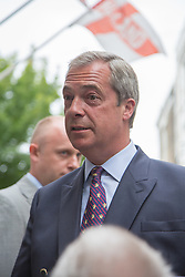 "@Licensed to London News Pictures 07/09/15. Ramsgate, Kent. Nigel Farage Leader of the UKIP Party  goes on walkabout today to launch his party's ""Say No To The EU"" Tour in Ramsgate town centre. Photo credit: Manu Palomeque/LNP"