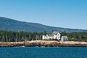 Mark Island Lighthouse, Winter Harbor, Maine, ME, USA