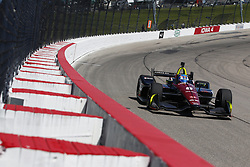 July 7, 2018 - Newton, Iowa, United States of America - ROBERT WICKENS (6) of Canada takes to the track to practice for the Iowa Corn 300 at Iowa Speedway in Newton, Iowa. (Credit Image: © Justin R. Noe Asp Inc/ASP via ZUMA Wire)