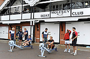 Molesey Surrey.  Ergo Challenge CU RFC vs OU RFC,  Varsity Rugby  Oxford lead by Andy HODGE and Cambridge by Tom JAMES meet at Molesey BC, to compete in  1500m challenge [3 x 500-meters]  Wednesday  11/11/2009 [Mandatory Credit Peter Spurrier/ Intersport Images]  left, Oxford University RFC, Dan ROSEN [CAPT] Ricky LUTTON and Ian KENCH. Cambridge University, James GREENWOOD, Sandy REID and Predee ANUVATNUJOTIKUL