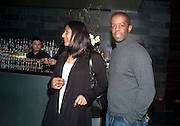 Lolita Chakrabarti; Adrian Lester, Clybourne Park Press night. Opened at Wyndham's Theatre. Party afterwards at Mint Leaf, Haymarket, London. 8 February 2011.  -DO NOT ARCHIVE-© Copyright Photograph by Dafydd Jones. 248 Clapham Rd. London SW9 0PZ. Tel 0207 820 0771. www.dafjones.com.