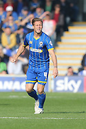 Dannie Bulman of AFC Wimbledon during the Sky Bet League 2 match between AFC Wimbledon and Barnet at the Cherry Red Records Stadium, Kingston, England on 3 October 2015. Photo by Stuart Butcher.