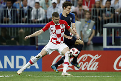 (l-r) Ante Rebic of Croatia, Benjamin Pavard of France during the 2018 FIFA World Cup Russia Final match between France and Croatia at the Luzhniki Stadium on July 15, 2018 in Moscow, Russia